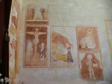 Pinturas recuperadas en la pared de la Iglesia de Benaque